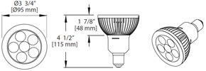 12W LED PAR30L Dimming Bulb, Base:E26